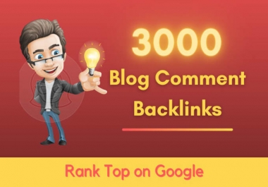 I wil do 3000 high quality blogcomment backlinks