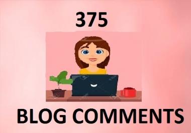 I will do 375 dofollow backlink high DAPA blog comments