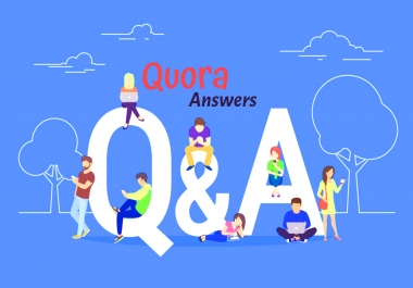 Promote your website 20 high quality Quora answer with your keyword & URL