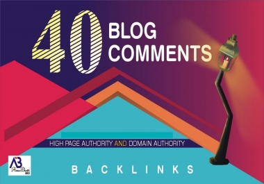 I will provide 40 blog comments do-follow backlinks
