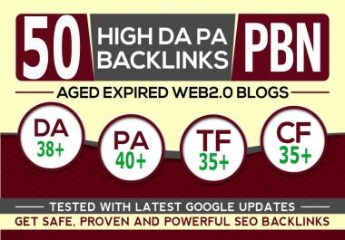 Premium Website Super fast web 2.0 50 pbn unique 50 site