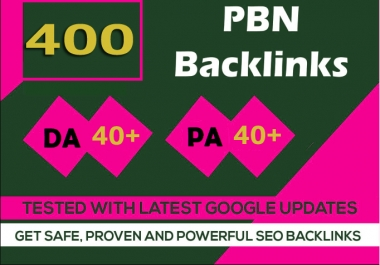 Build 400+parmanent PBN with High DA40+ PA40+ and 100% Dofollow with 400 unique website