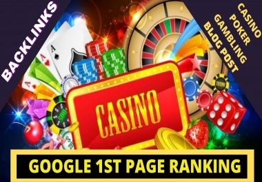 Rank Boost Over-Casino/Poker/Gambling Site 750+ Manual Backlinks for Evaluate Google 1st Page Rank