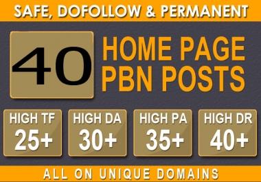 Build 40 PRIMIUM WEBSITE 2.0 PBN DA BACKLINKS 30+ DA and 40+ PA pbn in Unique 40+ WEBSITE LINK