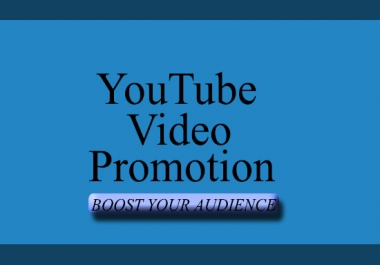 I will boost youtube video promotion