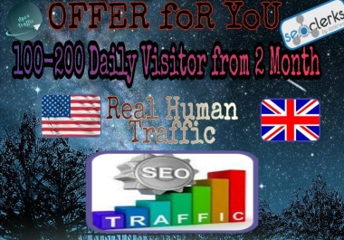 WE DRIVE 100-200 per Day visitors from 2 month.