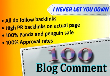 I will do 50 high quality blog comments SEO backlinks