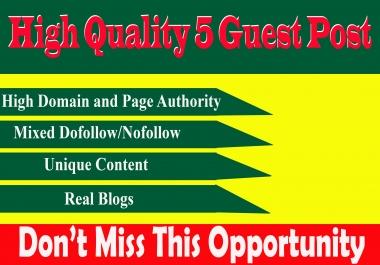 Write And Publish 5 Guest Post On Reddit,Medium,Kinja,diigo,linkedin DA90+ permanent backlinks