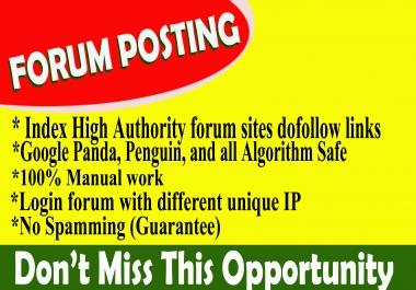 Provide 40+ forum posting dof0llow backlinks on high DA30+,PA+ blog