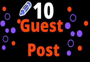 10 High DA PA Site Guest Post Backlinks