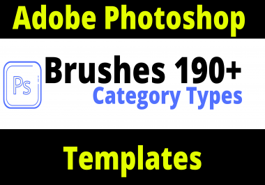 Adobe Brushes 190+ Category For PSD Templates
