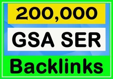 200k GSA SER High Authority Backlinks for Your Websites - SEO Service 2020