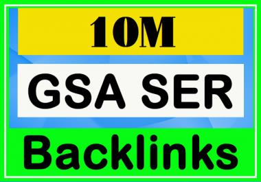 10 Million GSA Powerful Backlinks for Your Website - SEO Service 2020