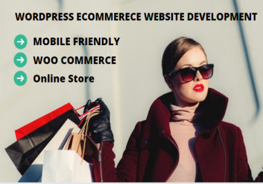 Create a online ecommerce store in wordpress woocommerce with 3 days free support