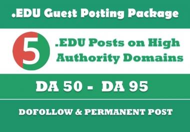 EDU Guest Posting - 5 Posts on High Authority EDU sites - DA50+