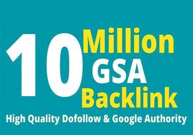 10 Million SEO GSA SER High Quality Backlinks for Google Ranking