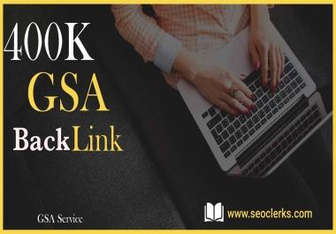 400K SEO GSA SER High Quality Backlinks for Google Ranking