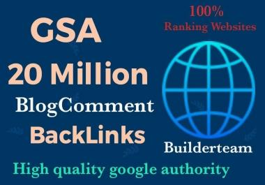 20 Million SEO GSA SER High Quality Backlinks for Google Ranking