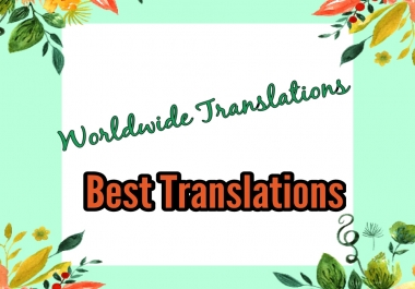TRANSLATE 500 WORDS ,TEXT,DOCUMENTS IN DIFFERENT LENGUAGES