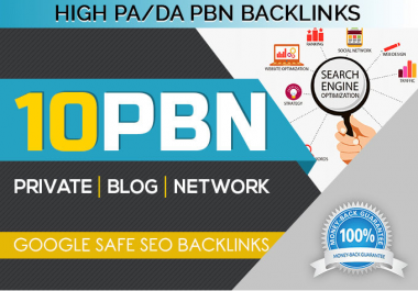 Get 10 Unique PBN Homepage Parmanent post for dofollow backlinks
