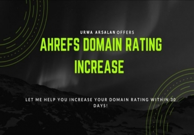 I will increase DR Domain Rating Upto 40 in 20 days