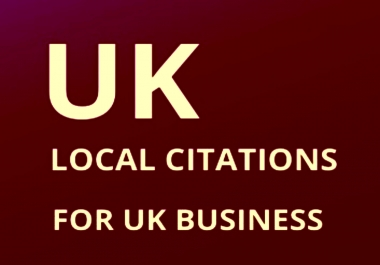 Provide 500 UK local listing citations for your business