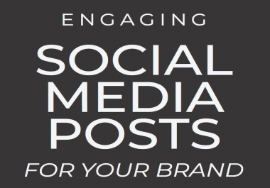 Write 7 social media posts for your business