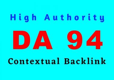 Create high authority niche relevant DA 94 website backlink