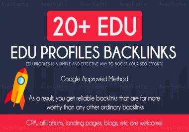 Build 20 Edu/GOV high quality backlinks improves SEO in 2020