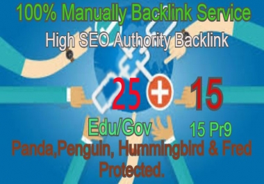 I Will Manually do 25 Edu/Guv + 15 Pr9 High DA PA Seo Profile Backlink- Skyroket your Google ranking