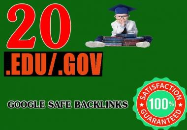 I Will Manually 20 Edu/Gov Top Quality SEO Authority Profile Backlink - Skyroket Your Google Ranking