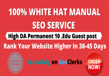 I will Publish permanent 10 EDU Guest post- Directly boost your rankings