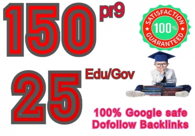 I will manually Create 155 pr9 & 25 edu/gov Dofollow backlinks, 2021 Best Result