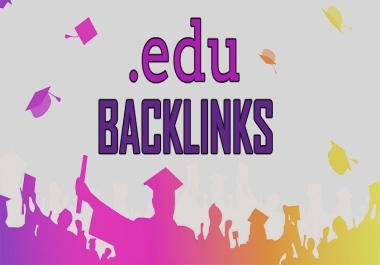 I will create 20 high da backlinks edu sites manually