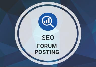 I will provide you 20 forum posting backlinks