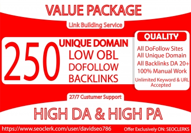 I will Make 250 Unqiue Domain Blog Comment Backlinks in DA 20+