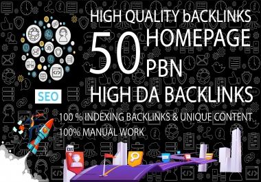 Get 50 Dofollow Homepage PBN Backlinks On High DA/PA TF/CF DR/UR