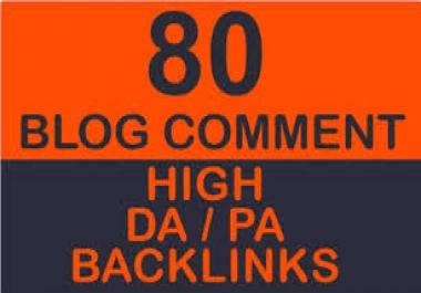 I Will do 80 blogcoments Dofollow high DA 30 plus backckIinks