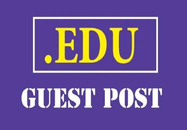 Publish one .EDU Guest Post DA 91