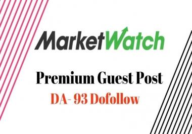 Write & Post On Marketwatch.com DA93