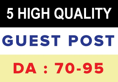 I will publish 10 HQ guest post on high da 70 to 95 plus site