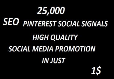 25,000+ SEO Pinterest Social Signals Bookmarks High Quality