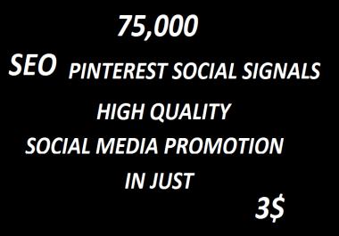 75,000+ SEO Pinterest Social Signals Bookmarks High Quality