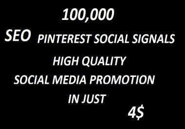 100,000+Super Offer SEO Pinterest Social Signals Bookmarks High Quality