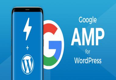 I will setup google amp for WordPress website