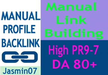 Manually Create 20 Profile Backlink High DA 80+