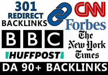 build 301 redirect dofollow seo backlinks from da 90 above, best for money and pbn sites