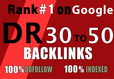10 backlinks DR 30 to 50 homepage pbn dofollow high quality links