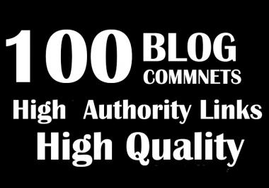I will do 100 blog commnets high pr backlinks