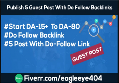 Publish 4 GuestBlog With Dofollow Backlinks